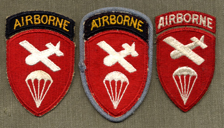 Army 17th Airborne Division cloth sleeve patch /&  Airborne tab GENUINE WWII U.S